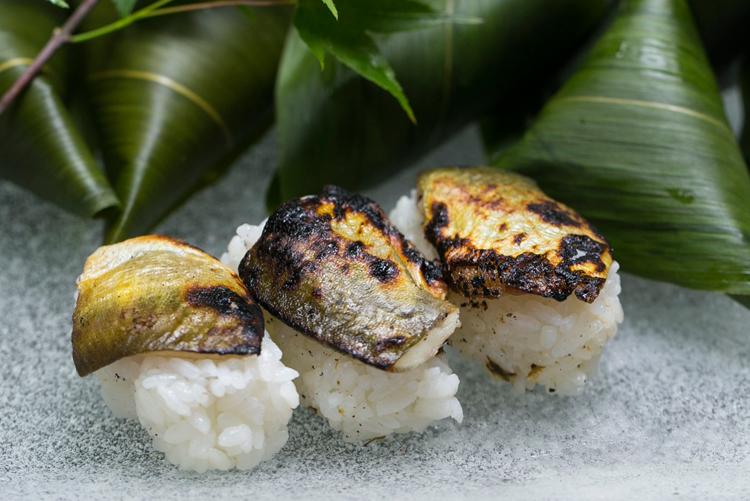 焼あゆ笹巻寿司(富貴味噌入り)
